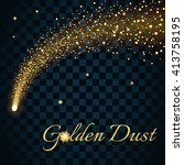 Golden Sparkling Falling Star....