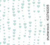 seamless background hearts... | Shutterstock .eps vector #413760205
