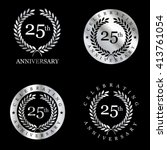 anniversary silver laurel... | Shutterstock .eps vector #413761054
