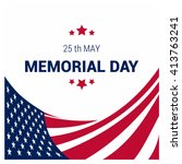 usa memorial day | Shutterstock .eps vector #413763241