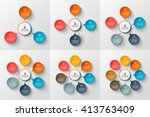 vector circle infographic.... | Shutterstock .eps vector #413763409