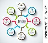 vector infographic design... | Shutterstock .eps vector #413763421