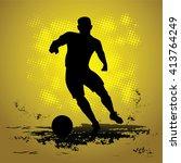 silhouette football soccer... | Shutterstock .eps vector #413764249