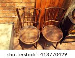 Vintage Style Chair In Cafe