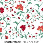 floral seamless pattern.... | Shutterstock .eps vector #413771419