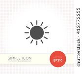 sun icon vector art eps img...