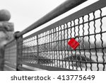 Red Love Lock Padlock With...