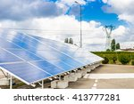 panels of a photovoltaic plant... | Shutterstock . vector #413777281