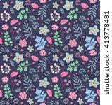 cute pattern in small flower... | Shutterstock .eps vector #413778481
