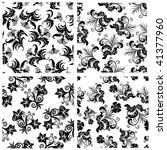 floral seamless backgrounds set | Shutterstock . vector #41377960