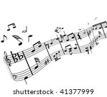music background with different ... | Shutterstock . vector #41377999