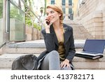 young office business woman... | Shutterstock . vector #413782171