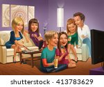 party | Shutterstock . vector #413783629