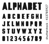 alphabet font template. letters ... | Shutterstock .eps vector #413785927