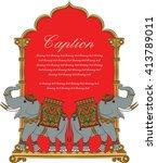 elephant in indian art style 5 | Shutterstock .eps vector #413789011