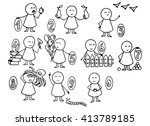 vector illustration of set of... | Shutterstock .eps vector #413789185