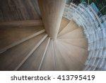 upside view of a spiral... | Shutterstock . vector #413795419
