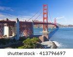 the golden gate bridge in san... | Shutterstock . vector #413796697