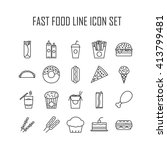 set of line icons with fast... | Shutterstock .eps vector #413799481