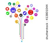 internet of things represented... | Shutterstock .eps vector #413801044