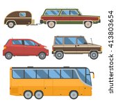 Voyage Cars Set. Travel...