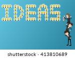 businessman standing on... | Shutterstock .eps vector #413810689
