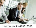 business people working... | Shutterstock . vector #413818909