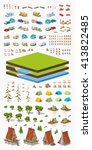 tourism isometric infographic... | Shutterstock .eps vector #413822485
