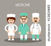 cartoon isolated vector doctors | Shutterstock .eps vector #413824885