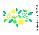 vector illustration of lemonade.... | Shutterstock .eps vector #413828371