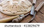 wood processing. joinery work.... | Shutterstock . vector #413829679