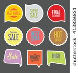 modern sale stickers collection | Shutterstock .eps vector #413836831