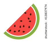 watermelon icon.  | Shutterstock .eps vector #413837974