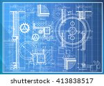 abstract engineering drawing... | Shutterstock .eps vector #413838517
