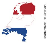 map and flag of the netherlands | Shutterstock .eps vector #413841904