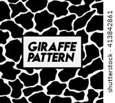giraffe pattern. | Shutterstock .eps vector #413842861