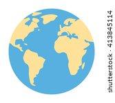 globe icon.  | Shutterstock .eps vector #413845114