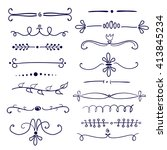 set of different hand drawn... | Shutterstock .eps vector #413845234