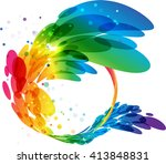 abstract colorful circle frame  ... | Shutterstock .eps vector #413848831