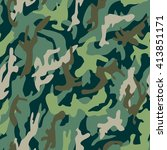 camouflage pattern | Shutterstock .eps vector #413851171