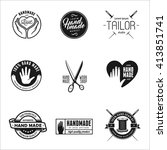 hand made labels  badges and... | Shutterstock .eps vector #413851741