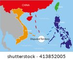 disputed territory within the... | Shutterstock .eps vector #413852005