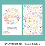 flyer brochure vector template ... | Shutterstock .eps vector #413852377