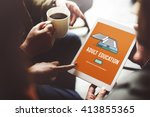 adult education advisory age... | Shutterstock . vector #413855365