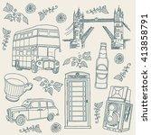 london. background | Shutterstock .eps vector #413858791