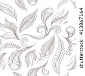 hand drawing seamless pattern... | Shutterstock .eps vector #413867164