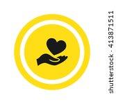 heart icon vector   Shutterstock .eps vector #413871511