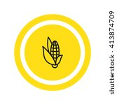 corn icon. corn icon vector....