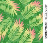 summer tropical gradient palm... | Shutterstock .eps vector #413879359