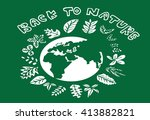 leaf icons logo and design...   Shutterstock .eps vector #413882821